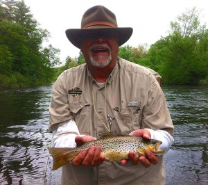 Brown trout that fell for the upstream cast