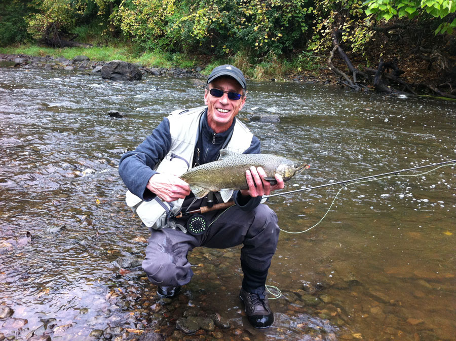Autumn drought and long winters fly fishing madness for Salmon fishing wisconsin