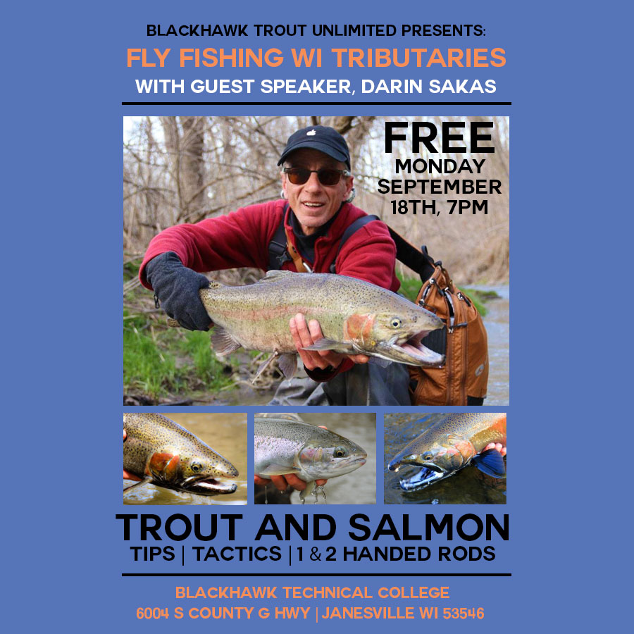 Fly fishing wisconsin tributaries free seminar fly for Trout fishing wisconsin